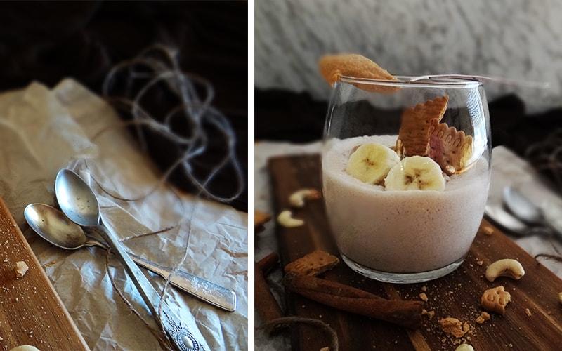 postre de yogur y plátano