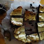 Brownie y tarta de queso