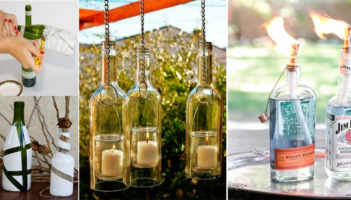 Ideas para reciclar botellas de cristal o vidrio