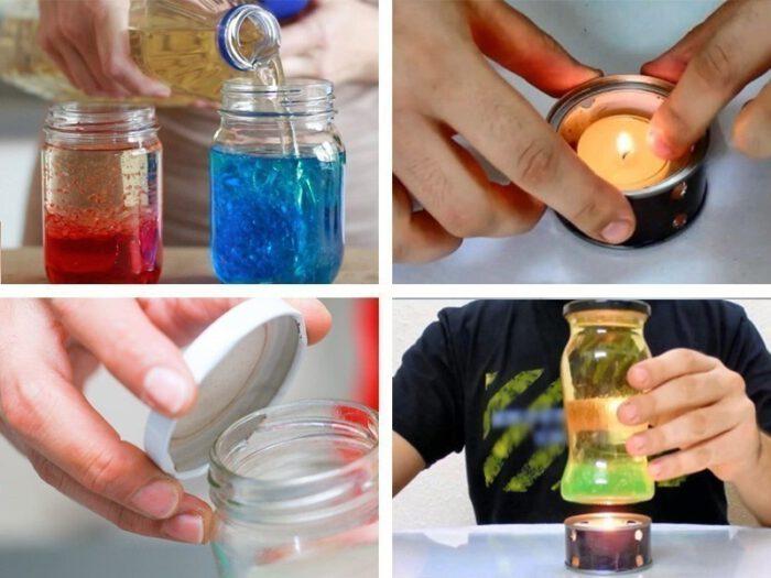 Como hacer una lámpara de lava