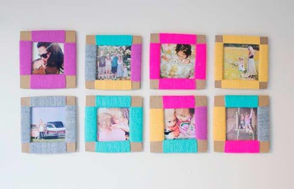 Ideas para hacer marcos de fotos DIY
