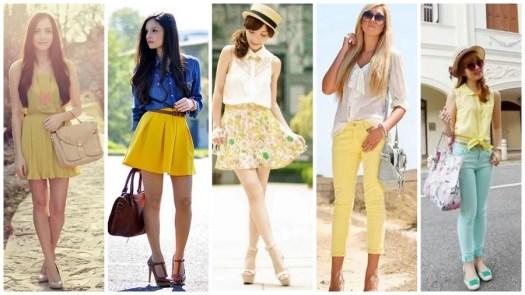 Najmodniejsze kolory sezonu wiosna lato - żółty