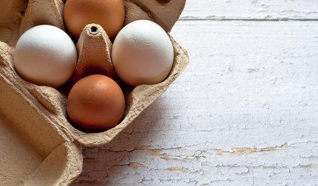 Świeże jajka w papierowej suszce