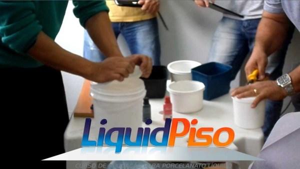 curso porcelanato liquido, resina epoxi materiais liquid piso SP