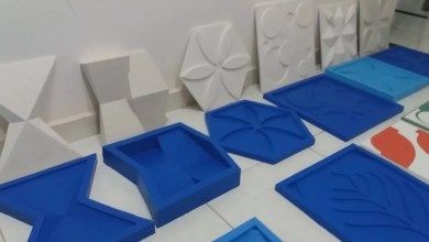 Photo of Formas de gesso 3d!