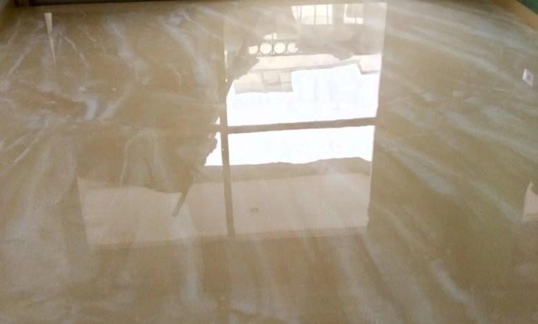 Porcelanato liquido mesclado