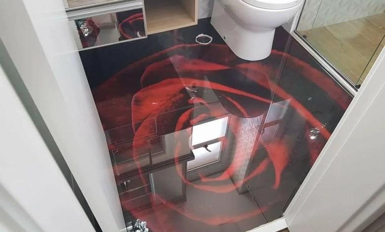 Piso em 3D Para Banheiro
