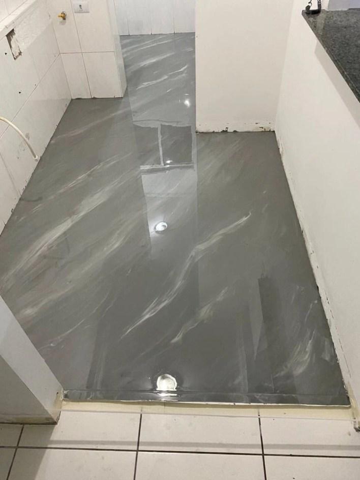 Porcelanato Liquido Cinza e Branco