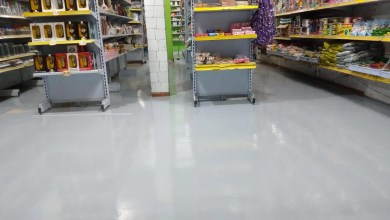 Photo of Piso Epóxi Supermercados Ribeirão Preto SP