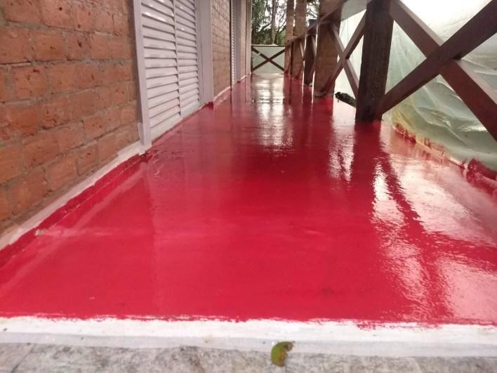 Pintura Epóxi Terraço Vermelho