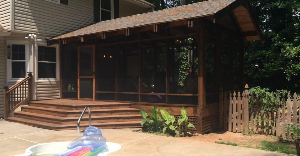 Project Renovation Diy Screened In Porch Addition