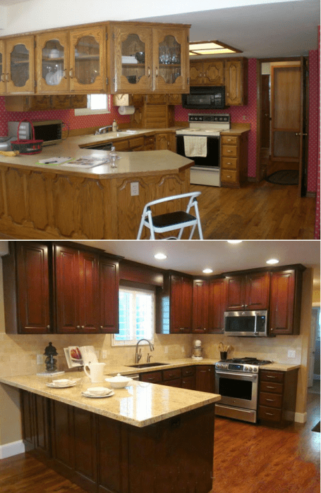 white corner kitchen cabinet stone countertops top 10 before & after projects - porch advice