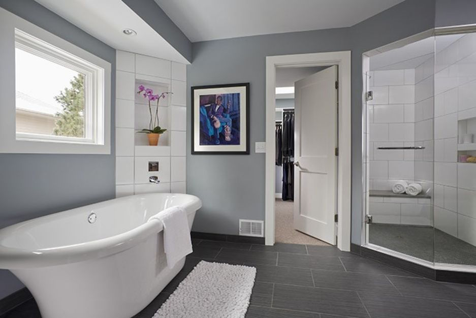 Before and After A Modern Bohemian Master Bath Remodel