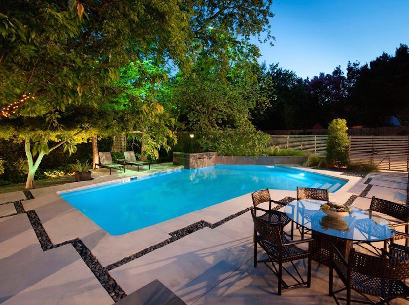 Before and After: A Modern Backyard Garden and Pool