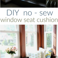 Diy Chair Cushion No Sew Accent And Table Set Window Seat Christinas Adventures