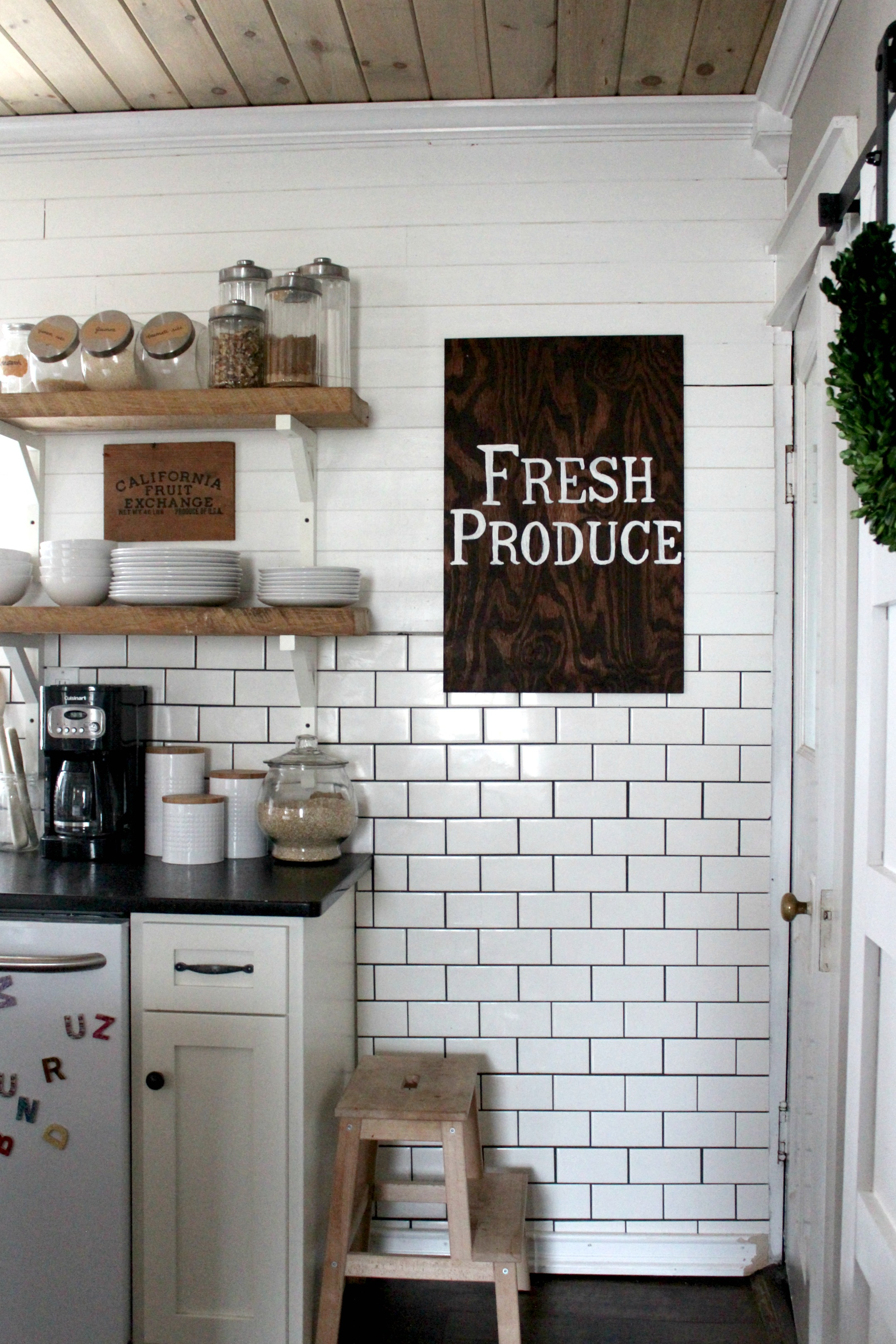 wooden signs for kitchen stoves at lowes diy large wood sign tutorial christinas adventures