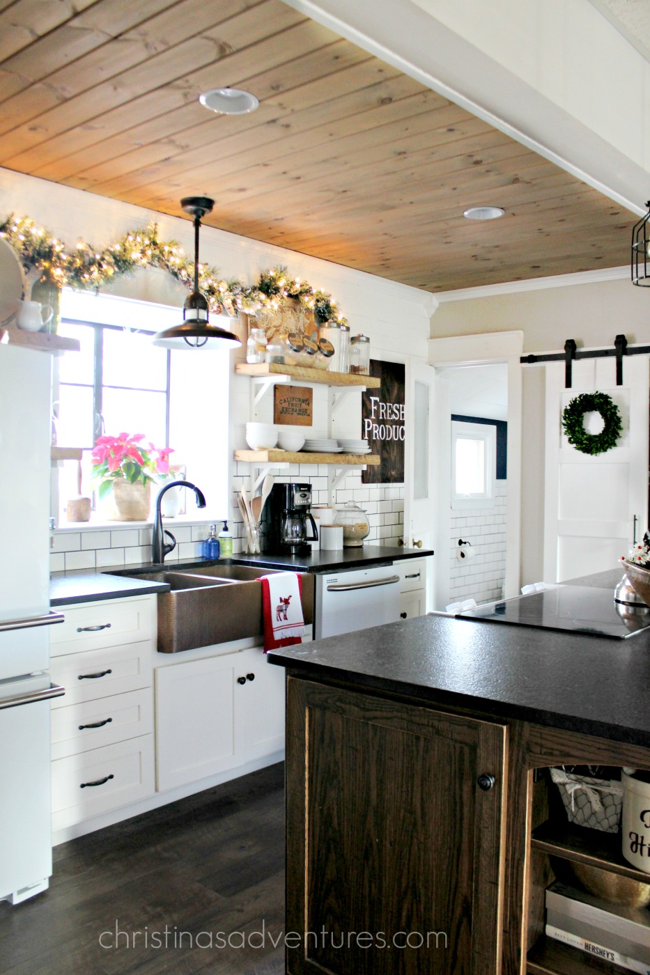 craigslist kitchen island undermount stainless steel sink farmhouse christmas - christinas adventures
