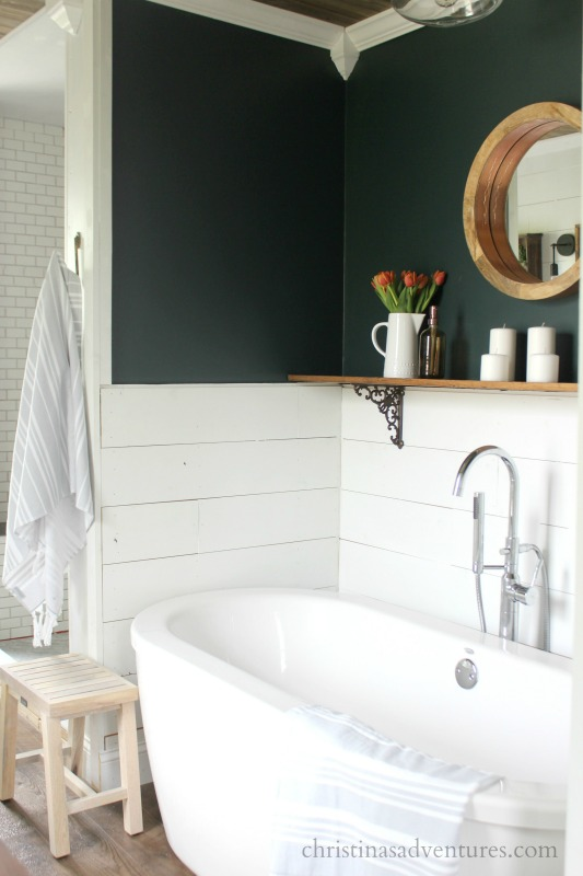 farmhouse bathroom paint colors