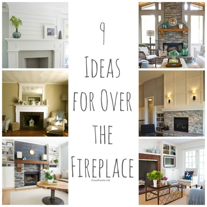 Tips For Refreshing Your Living Room Once The Christmas With Fireplace Wall Decor