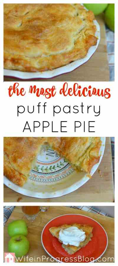 The best and most delicious apple pie you will ever make. The puff pastry might seem daunting at first but it's actually really simple to make and tastes fat superior to any other pie crust you will ever eat.