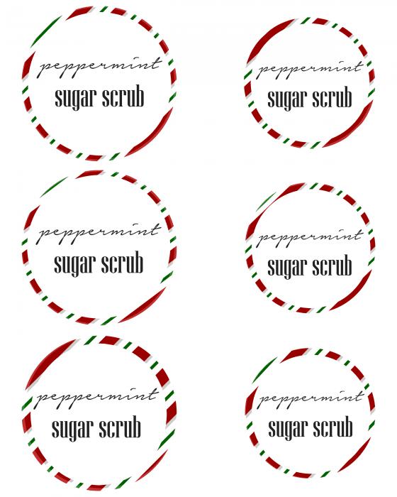 sugar scrub mason jar labels