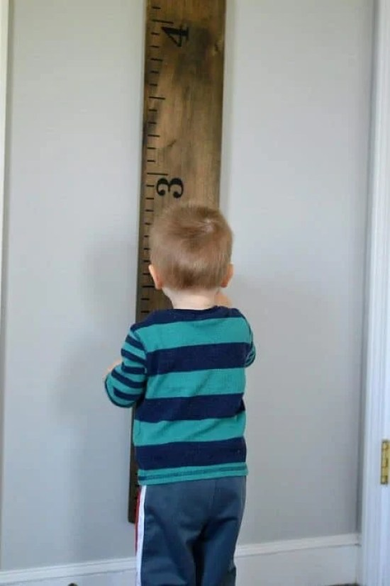 How cute is this lifesize growth chart ruler?