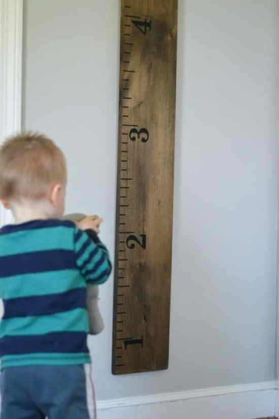 DIY Growth Chart Ruler - A Great project!