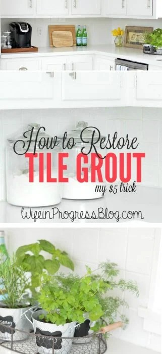 You have to pin this!! How to Restore Grout To Bright White Again For Only $5!