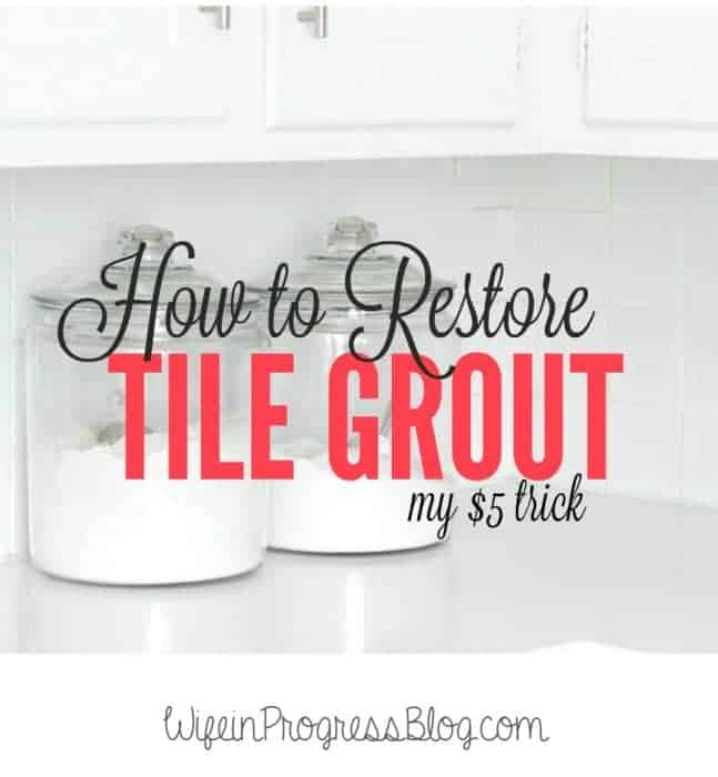Restore Tile Grout for $5 and very little effort!