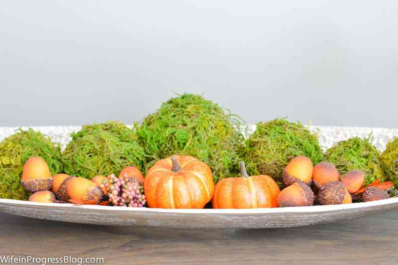 Fall decorating ideas for the dining room.