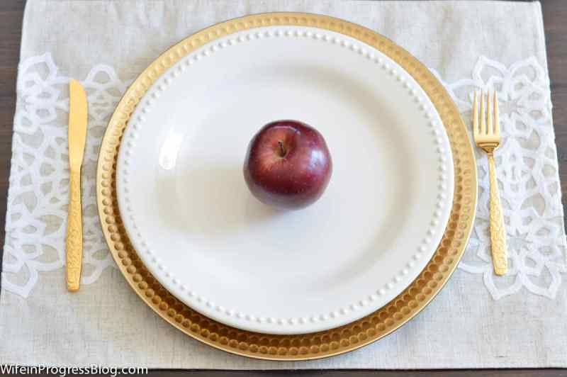 A simple fall table setting