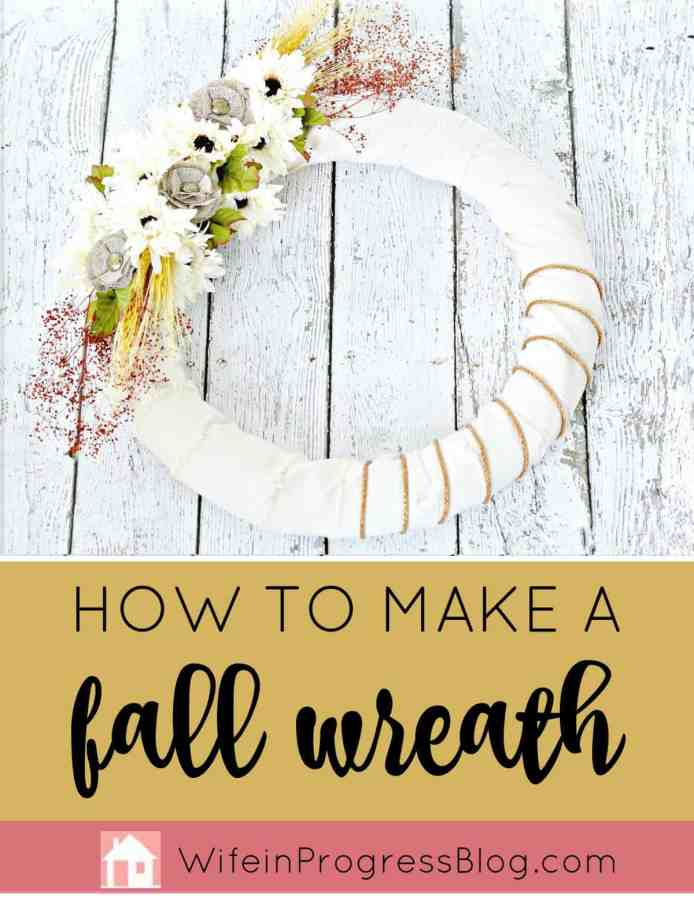 This beautiful fall wreath is so easy to make! Have you ever wondered how to make a burlap wreath for your fall decor? This tutorial will show you just how easy it is!