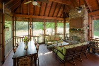 Screened porch with seating and dining area - The Porch ...