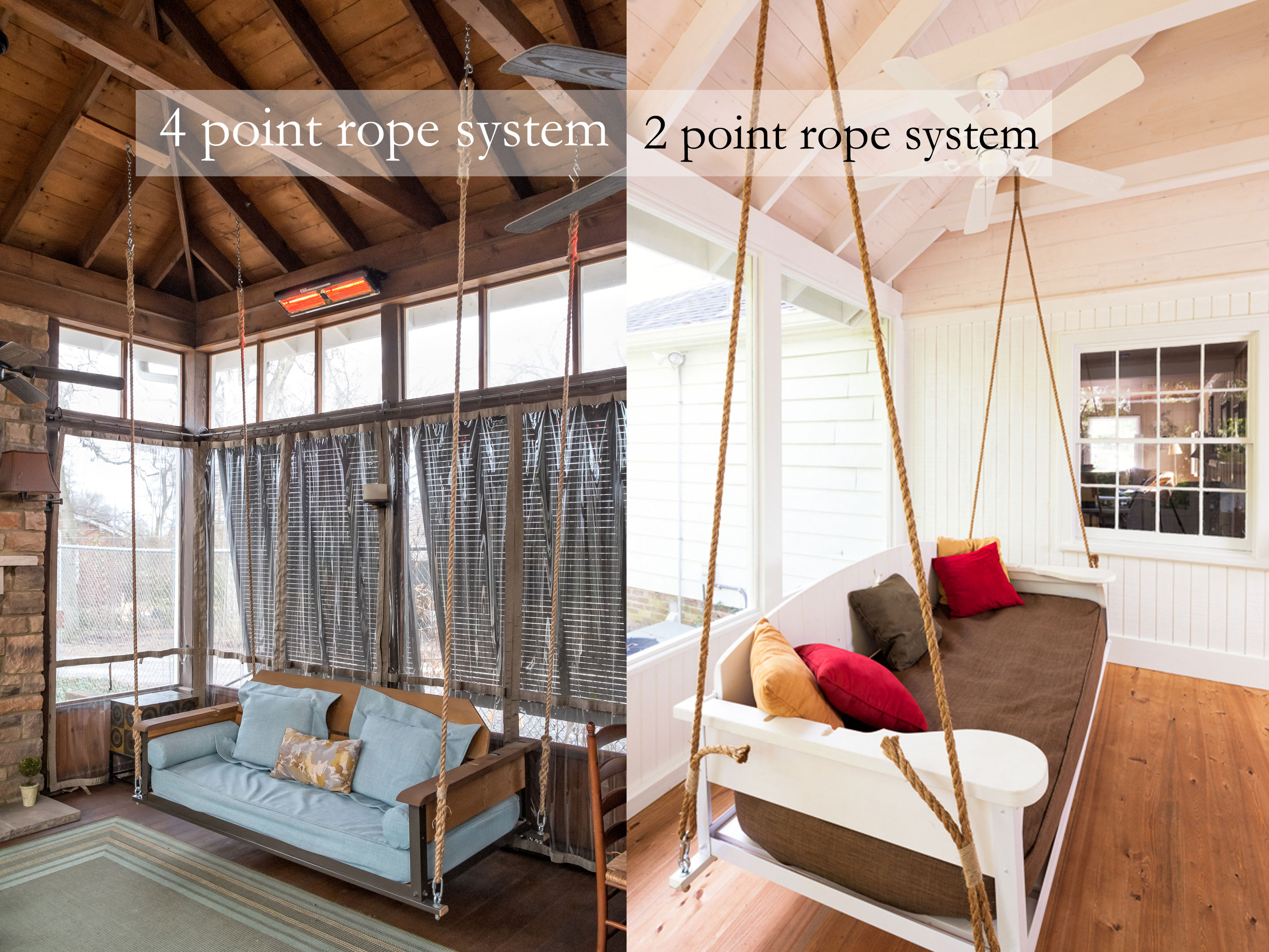 Swing Bed Hanging Rope  The Porch CompanyThe Porch Company