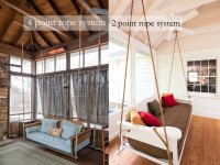 Swing Bed Hanging Rope - The Porch CompanyThe Porch Company