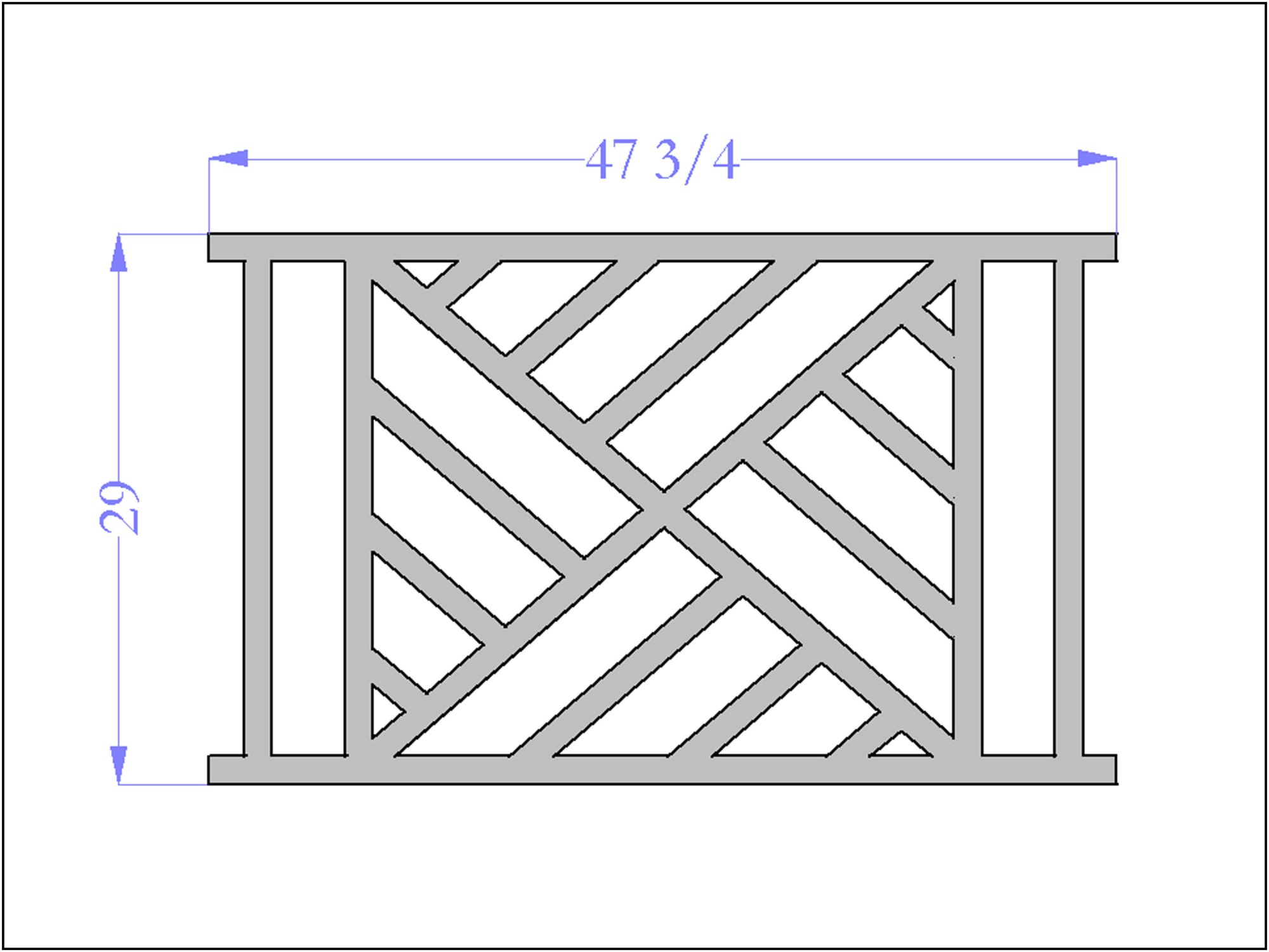 hight resolution of chippendale iii railing panel