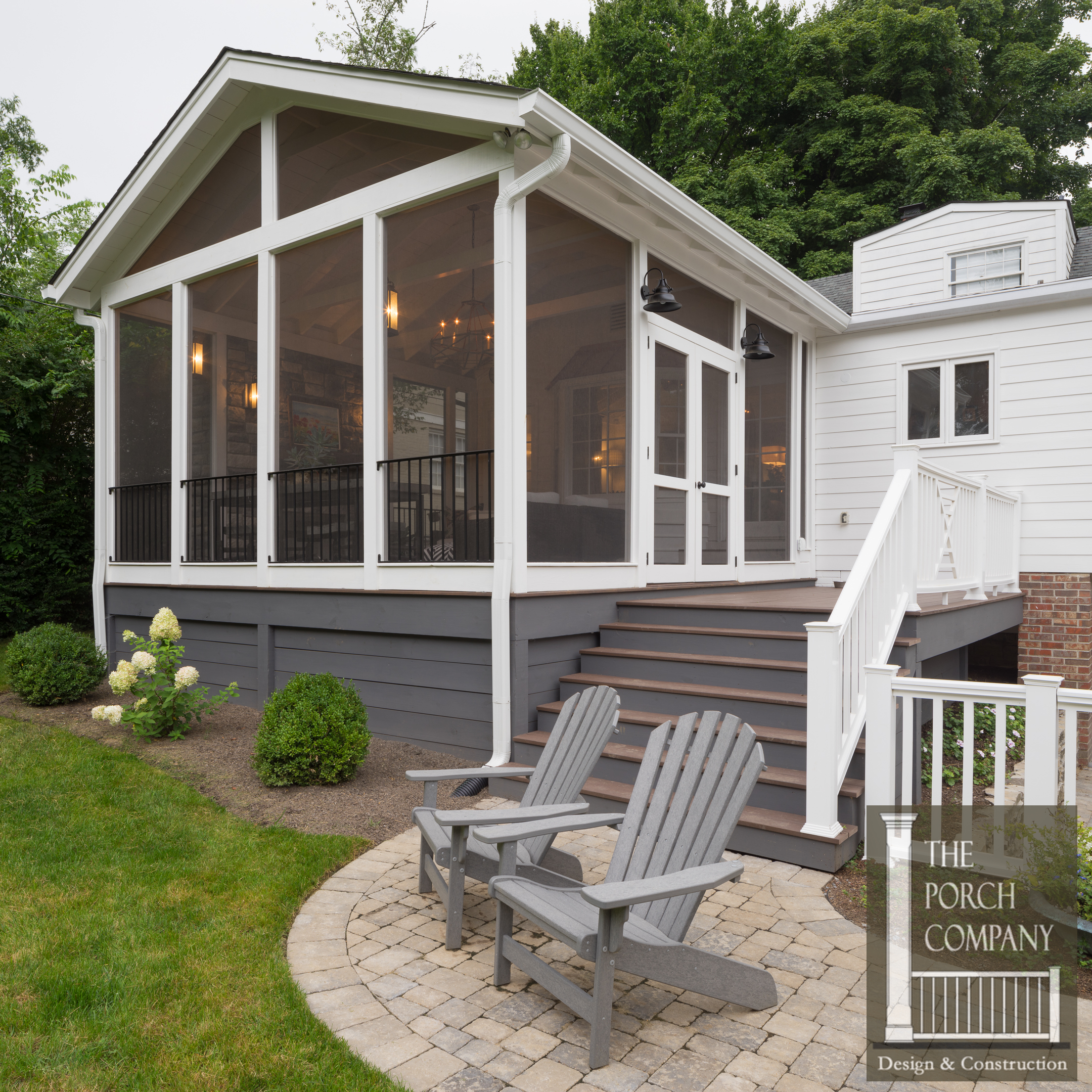 Screened Porch and Garage Oasis  The Porch Company