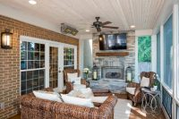 WITH A SCREENED PORCH LIKE THIS, YOU, TOO, WOULD BE JUST ...