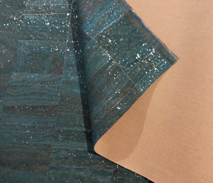 Surface Cork Fabric – Blue Silver