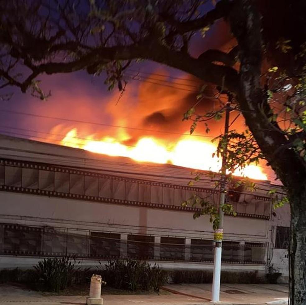 Cinemateca Brasileira em chamas