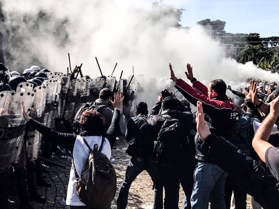 Manifestação contra a votação do pacotaço. foto: gibran mendes