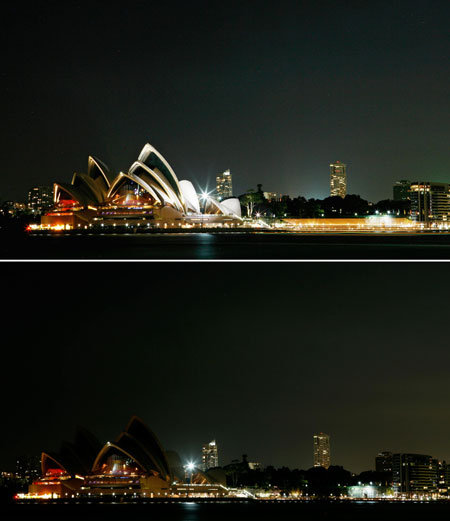 Earth Hour 2009 Sydney