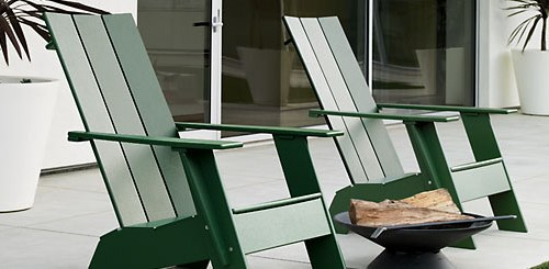 Lolls Adirondack Chair Made of 100 Recycled Materials