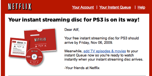 Now Shipping: Netflix Instant Streaming Discs for PS3