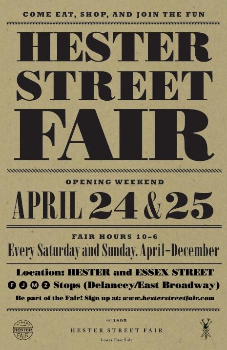 Opening Weekend Hester Street Fair Por Homme
