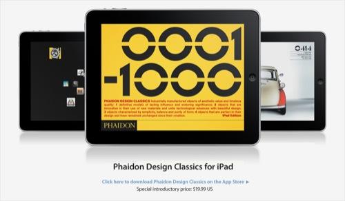 Phaidon Design Classics x Apple iPad