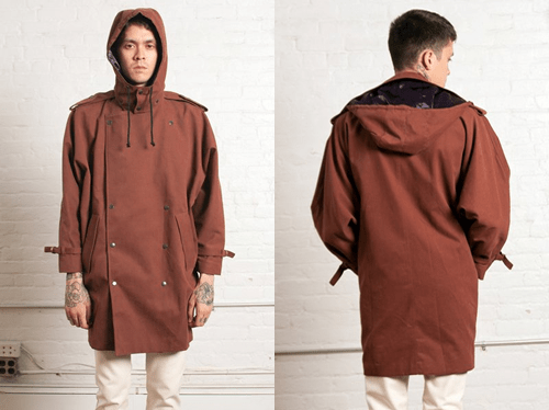 Assembly New York Sunburn Hooded Trench Coat