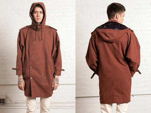 Assembly New York Sunburn Hooded Trench Coat