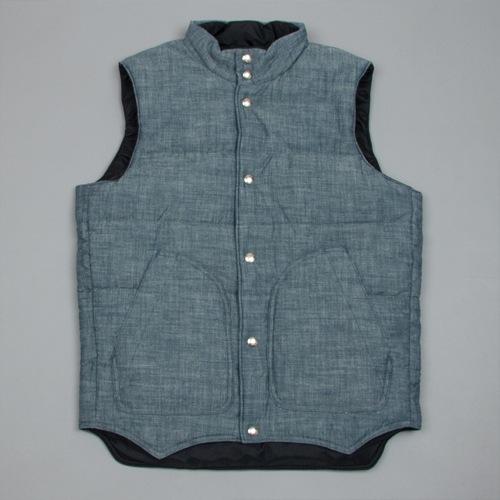 The Want   Monitaly Chambray Vest