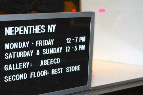 Pop-Up | Rest Store Inside Nepenthes NY